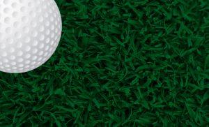golfball on grass