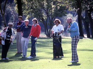 President Ford and Glen Campbell golfing